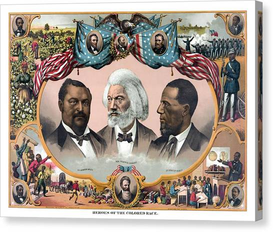 History Canvas Print - Heroes Of The Colored Race  by War Is Hell Store