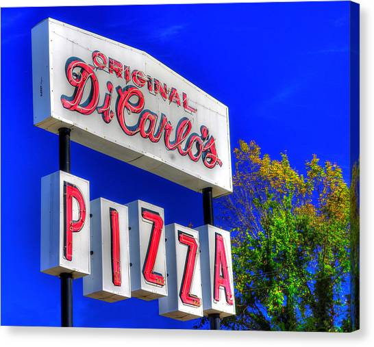 Ohio Valley Canvas Print - Heroes Of The Pizza Universe #2 - Di Carlo's Pizza - Slices Boxes And Trays - Steubenville Oh by Michael Mazaika