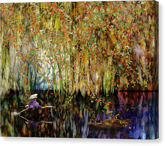 Heron Cove Canvas Print by Gae Helton