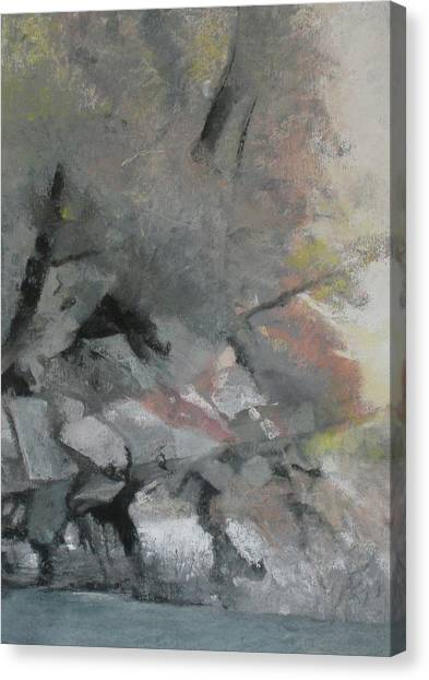 Heron Lake Winter Glow Canvas Print by Anita Stoll