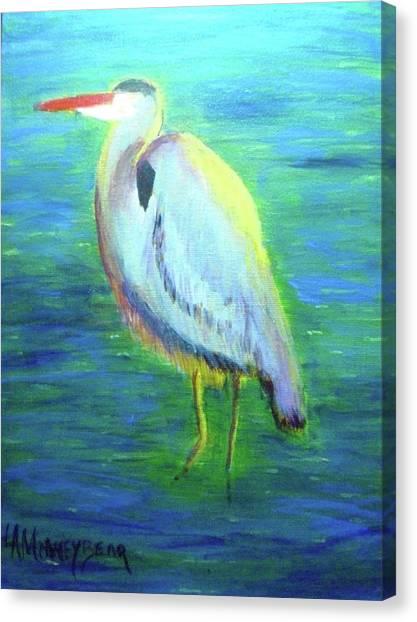 Heron Canvas Print by Lauren Mooney Bear