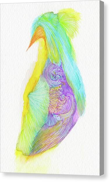 Heron - #ss16dw038 Canvas Print by Satomi Sugimoto