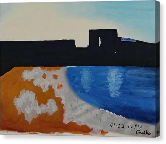 Herzliya Beach  Canvas Print by Harris Gulko