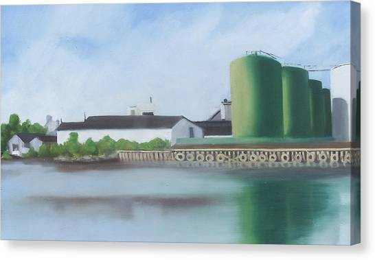 Hess Tanks From Costco Canvas Print