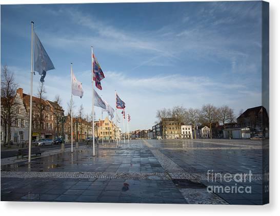 Belgium Canvas Print - Het Zand, Bruges by Smart Aviation