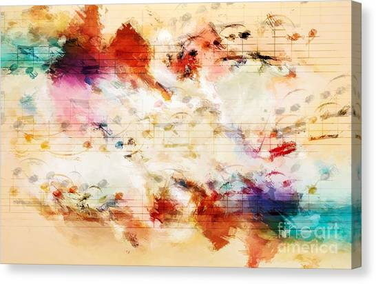 Heterophony And Inverted Harmony Canvas Print