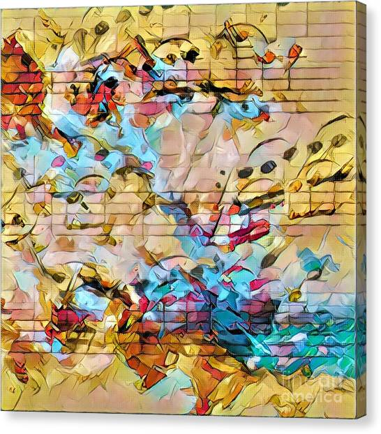 Heterophony Squared 3 Canvas Print by Lon Chaffin