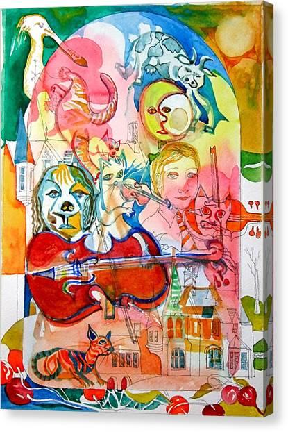 Hey Diddle Diddle Canvas Print by Mike Shepley DA Edin
