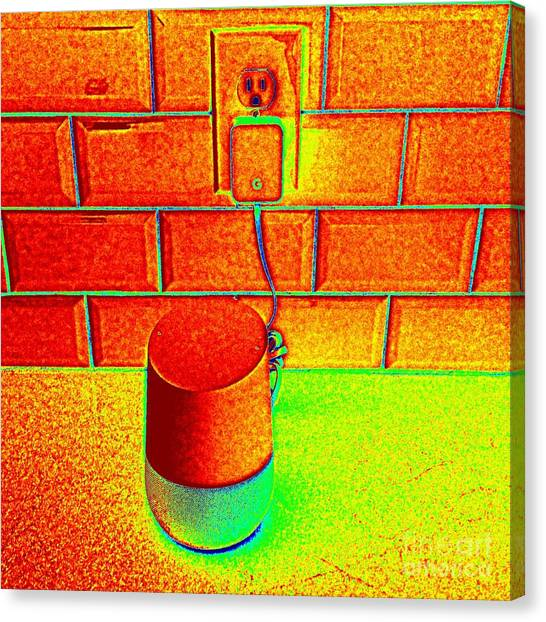 Heat Map Hey Google How Can You Help Me Canvas Print by Richard W Linford