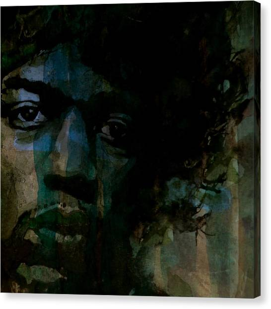 Jimi Hendrix Canvas Print - Hey Joe Retro by Paul Lovering