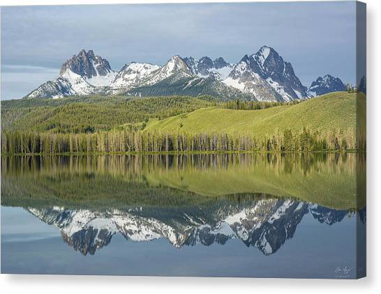 Boise National Forest Canvas Print - Heyburn And Horstmann Peaks by Aaron Spong