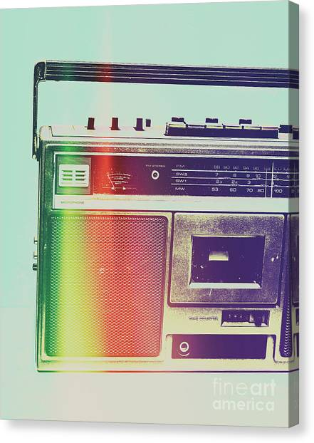 Speakers Canvas Print - Hi-fi Pop by Jorgo Photography - Wall Art Gallery