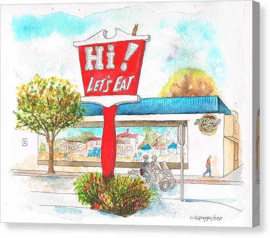 Hi Lets Eat Coffee Shop In Lompoc, California Canvas Print