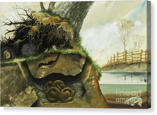 Groundhogs Canvas Print - Hibernation by David Nockels