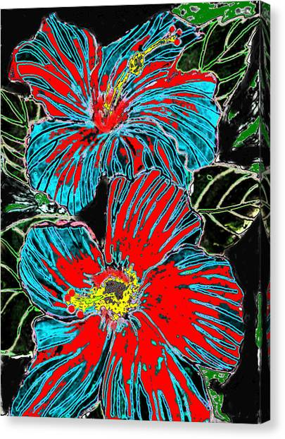 Hibisc Canvas Print