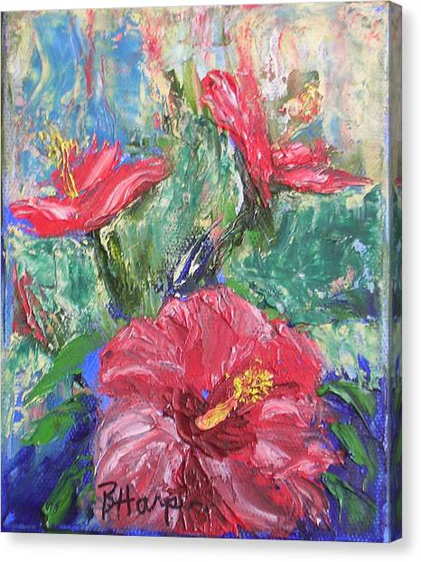 Hibiscus Abstract Canvas Print by Barbara Harper