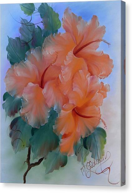 Hibiscus Delight Canvas Print by Micheal Giddens