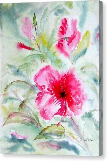 Hibiscus Fantasy Canvas Print