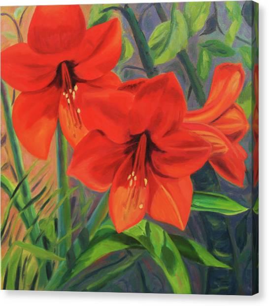 Hibiscus Canvas Print by Jane  Simonson