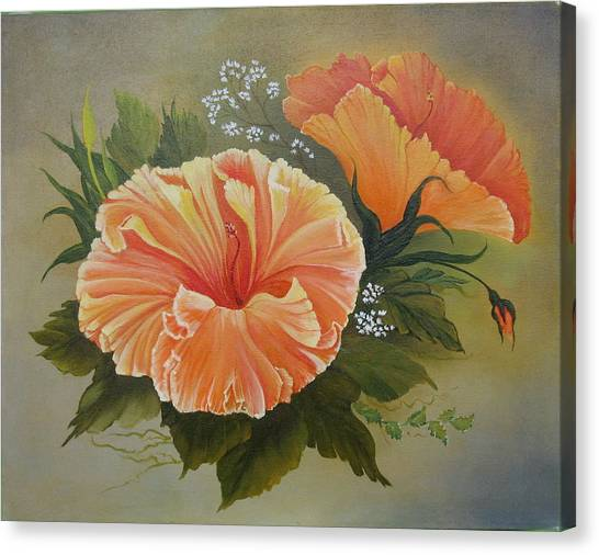 Hibiscus  Canvas Print by Joan Taylor-Sullivant