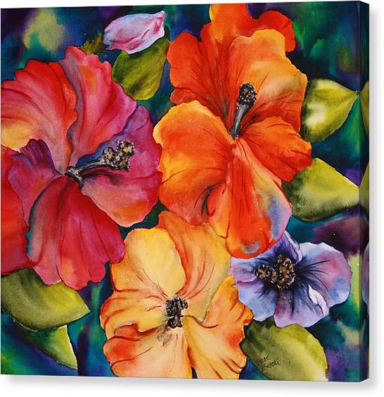 Hibiscus Mini Canvas Print