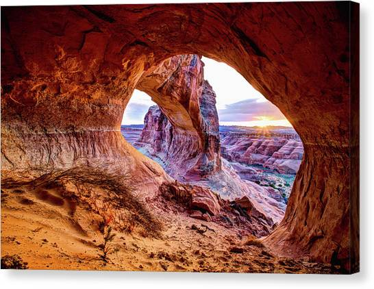 Sunset Canvas Print - Hidden Alcove by Chad Dutson