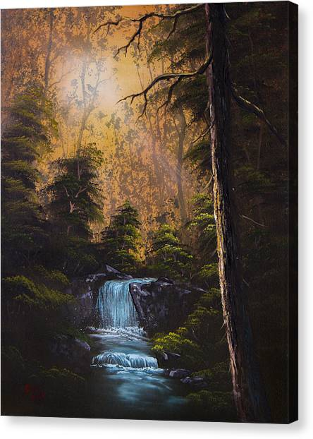 Bob Ross Canvas Print - Hidden Brook by Chris Steele