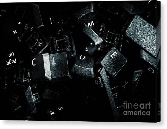 Keypad Canvas Print - Hidden By A Coverup Conspiracy by Jorgo Photography - Wall Art Gallery