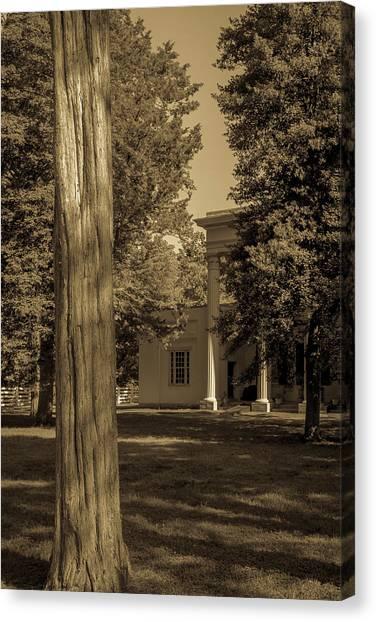 Canvas Print featuring the photograph Hidden Columns  by James L Bartlett