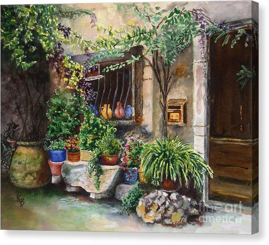 Hidden Courtyard Canvas Print