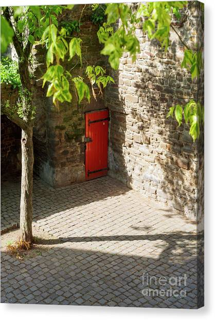 Limburg Canvas Print - Hidden Door In The Old Town Wall Maastricht Netherlands by Louise Heusinkveld