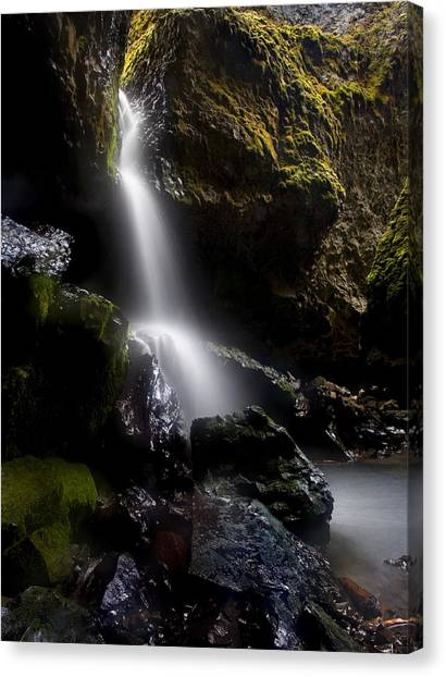 Caverns Canvas Print - Hidden Falls by Mike  Dawson