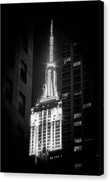 Empire State Building Canvas Print - Hidden Gem by Az Jackson