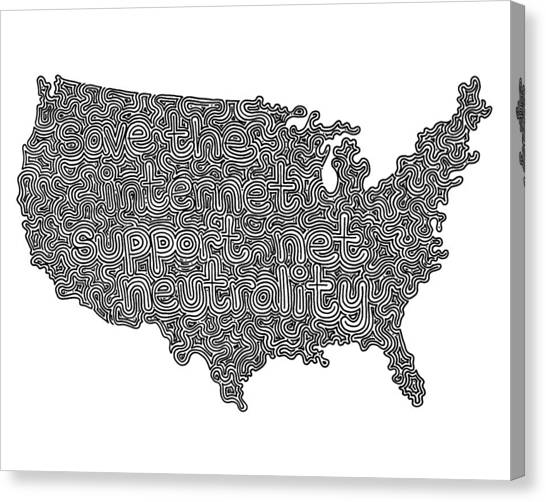 Net Neutrality Canvas Print - Hidden Image #12  by A Mad Doodler