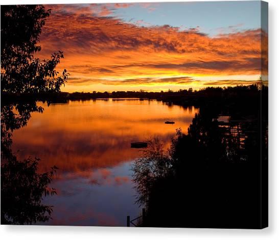 Hidden Lake Sunrise Canvas Print by Thomas Lewis