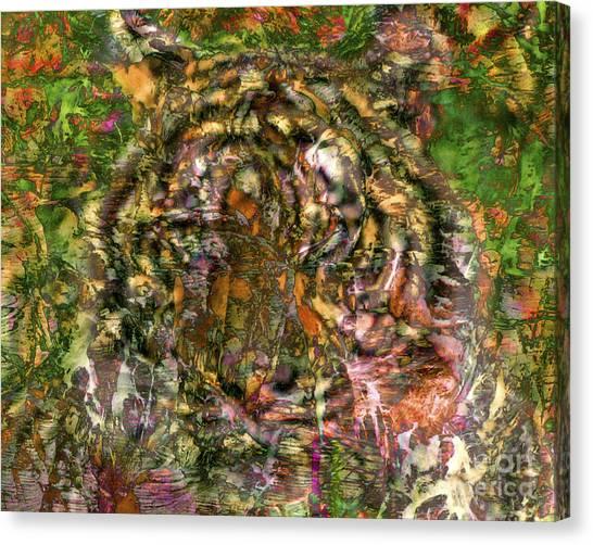 Hidden Tiger Canvas Print by Chuck Brittenham