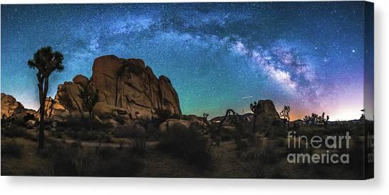 Hidden Valley Milky Way Panorama Canvas Print