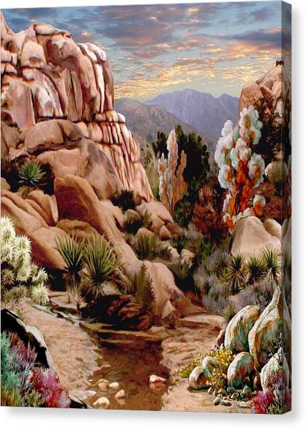 Mountain Sunrises Canvas Print - Hidden Valley Trail by Ron Chambers