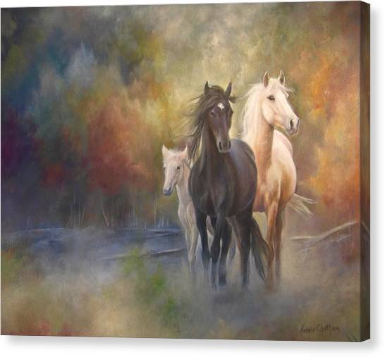 Hiding In The Mist Canvas Print