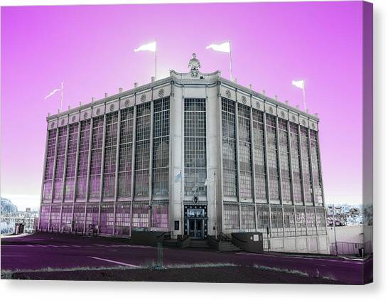 Higgins Armory In Infrared Canvas Print