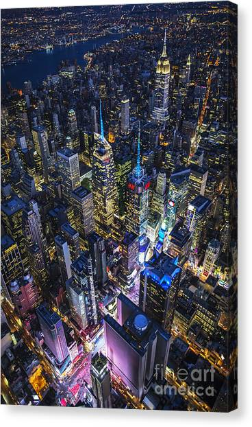 High Above The City Canvas Print