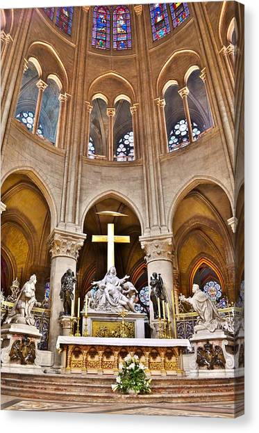 High Alter Notre Dame Cathedral Paris France Canvas Print