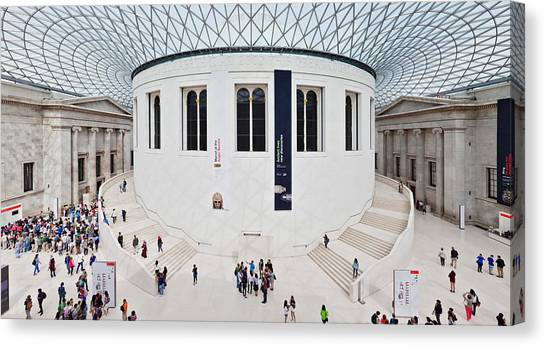 The British Museum Canvas Print - High Angle View Of People At British by Panoramic Images