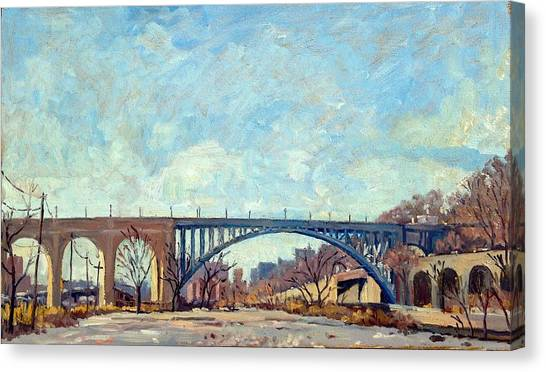 High Bridge Winter Light Nyc Canvas Print