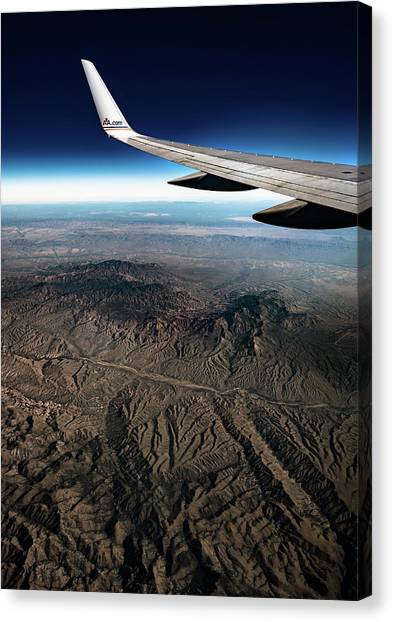 Canvas Print featuring the photograph High Desert From High Above by T Brian Jones