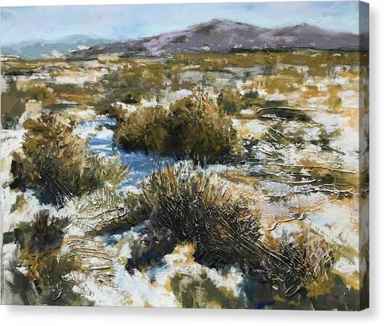 High Desert Winter Canvas Print