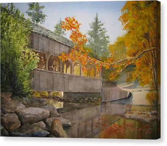 High Falls Bridge Canvas Print by Shirley Braithwaite Hunt