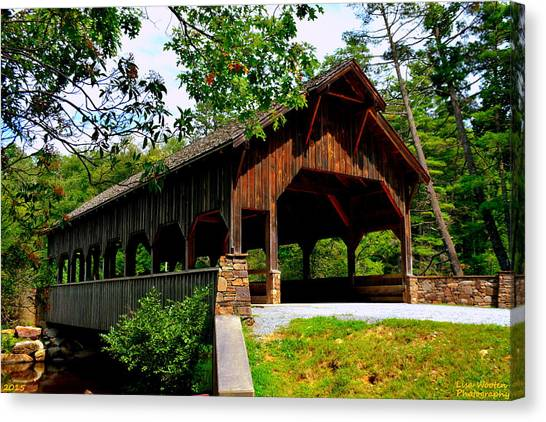 High Falls Covered Bridge Canvas Print