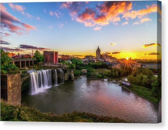High Falls Rochester Ny Canvas Print