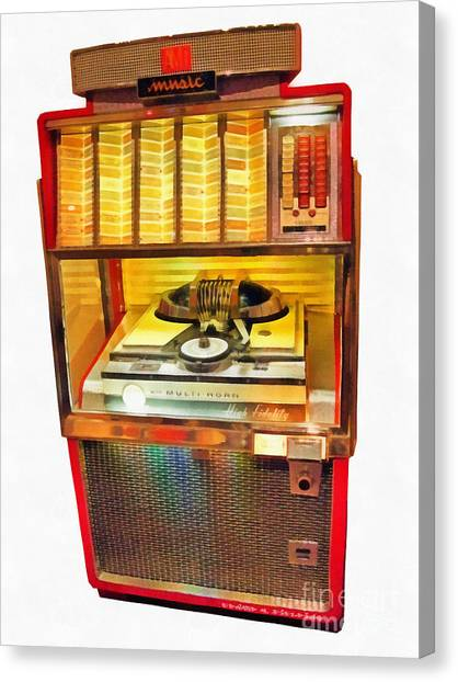 Jukebox Canvas Print - High Fidelity by Edward Fielding
